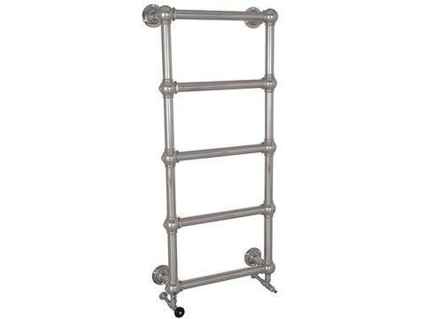 COLOSSUS 5 BAR CHROME WALL MOUNTED TOWEL RAIL 1300MM HIGH X 500MM WIDE