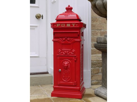 Victorian style red post box