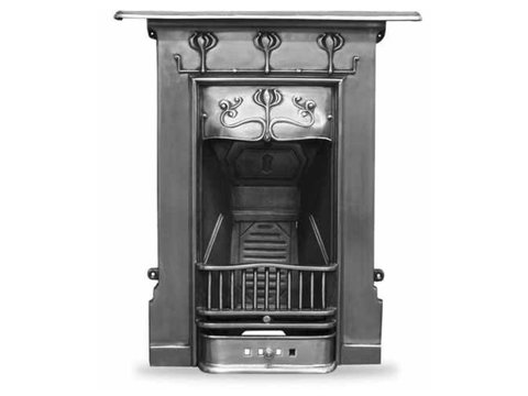 Abbott cast iron fireplace full polish