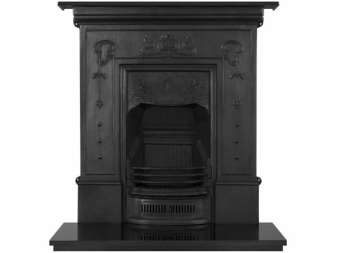 Bella cast iron fireplace black finish