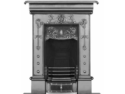 Bella small cast iron fireplace polished finish