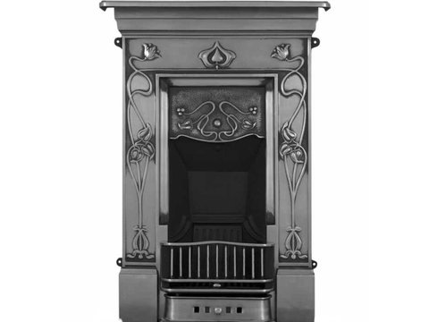 Crocus cast iron fireplace polished finish