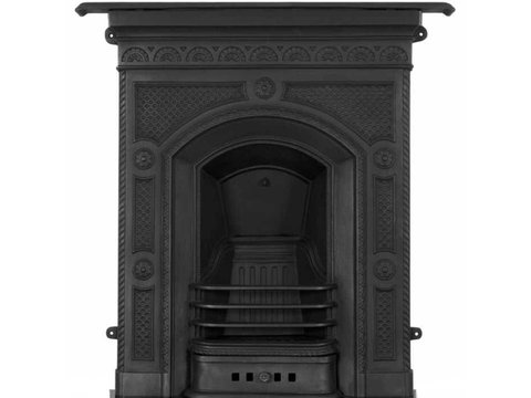 Hawthorne cast iron fireplace in black finish