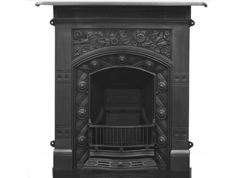 Jekyll cast iron fireplace black finish