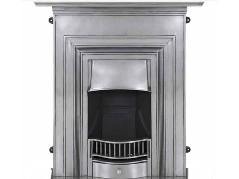 Oxford cast iron fireplace in polished finish