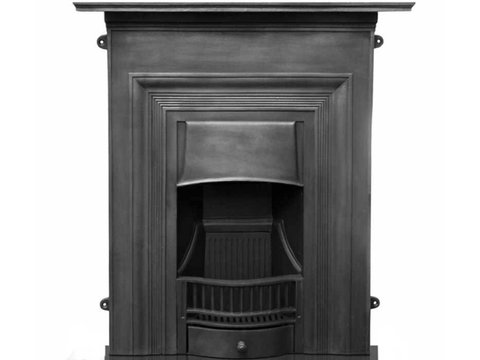 Oxford cast iron fireplace black finish