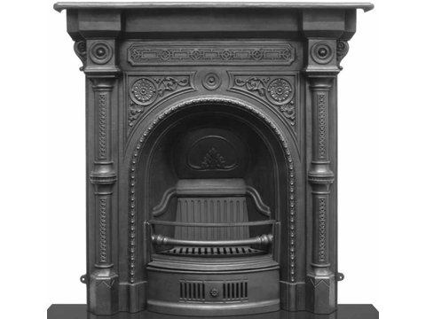 Tweed cast iron fireplace in black finish