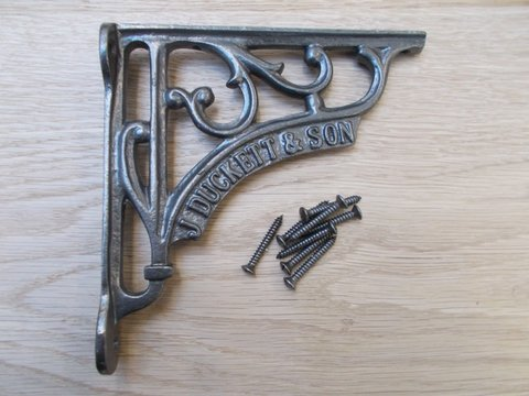 "Cast Iron Shelf Bracket  5"" J Duckett & Son"