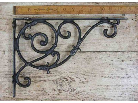 Dutch Shelf / Wall Hanging Bracket Ant Iron 230 x 340mm / 9″ x 13.5″
