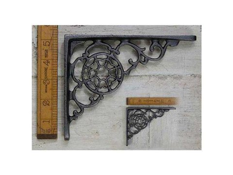Shelf Bracket 'Cobweb' Design Ant Iron 5″ x 7″