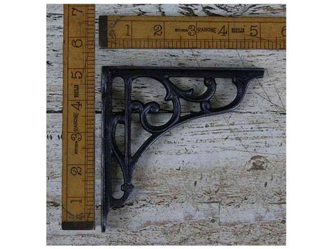 Shelf Bracket Dec Cast Antique Iron 125mm x 125mm / 5.0″ x 5.0″