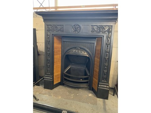 Original tiled combination fireplace f3010