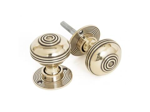 Aged Brass 50mm Prestbury Mortice/Rim Knob Set